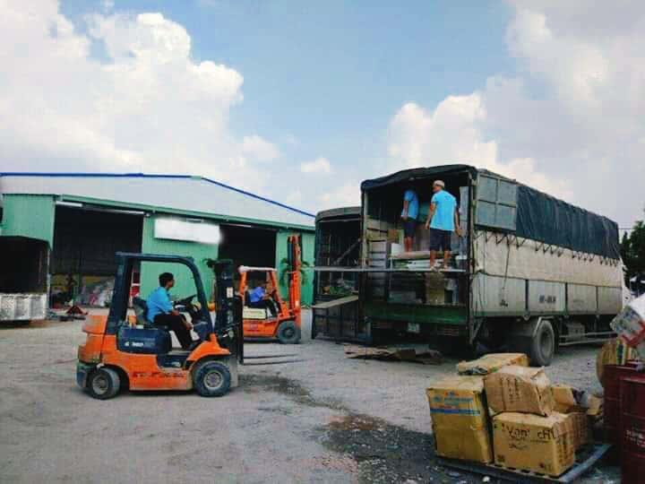 Chành xe chuyển hàng tại Bình Dương