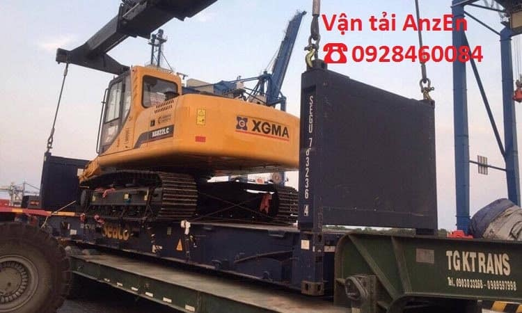 Chở máy công trình đi Đồng Nai