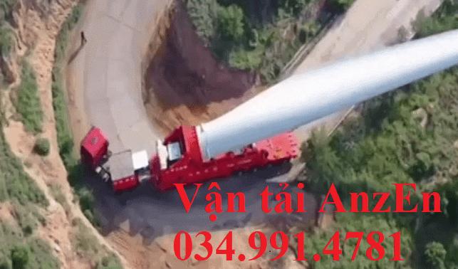 Vận chuyển hàng dự án điện gió đi tỉnh
