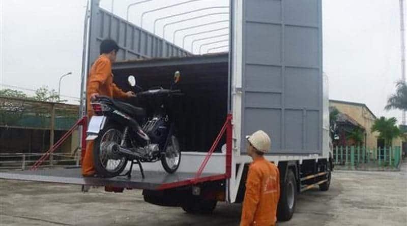 vận chuyển xe máy từ hà nội vào cần thơ